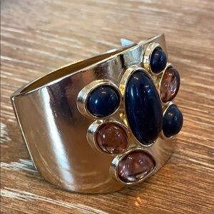 Stunning matte and jewel toned cuff